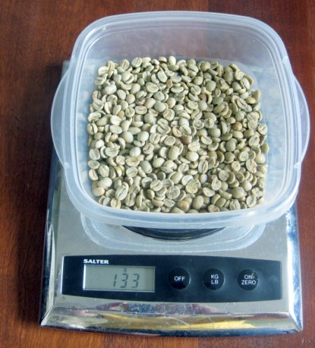 weigh coffee beans