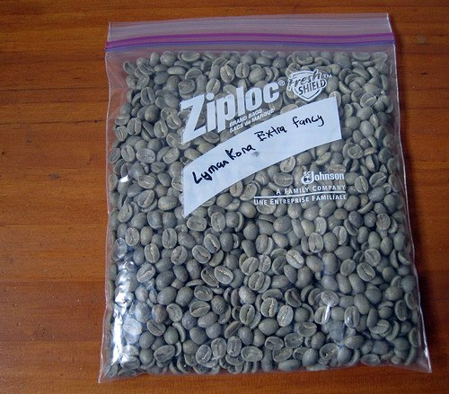 Lyman Kona Extra Fancy Green Coffee Beans