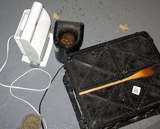patio coffee roasting heater