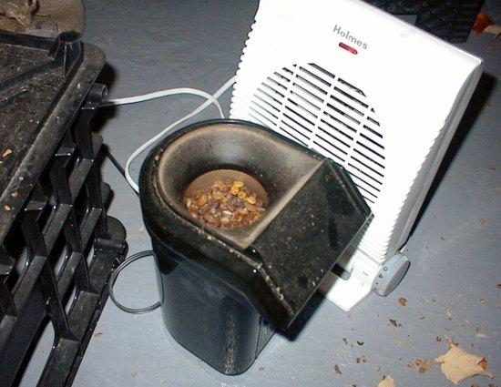 space heater coffee roasting