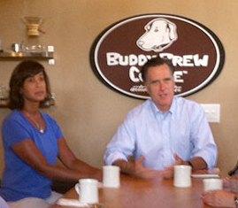 Mitt Romney at Buddy Brew