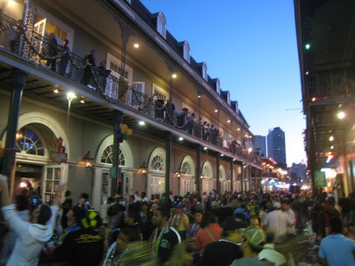 Bourbon Street on Mardi Gras