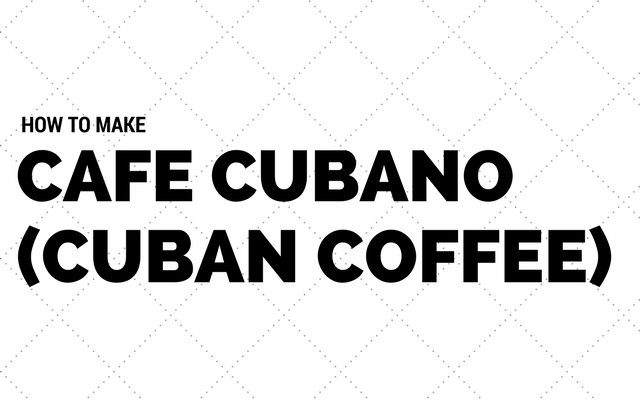 How to Make Cafe Cubano (Cuban Coffee)