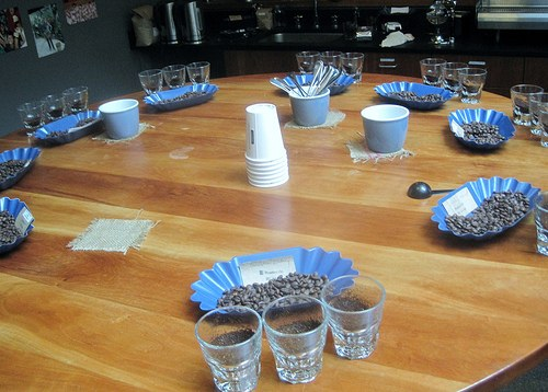 Coffee Tasting Table