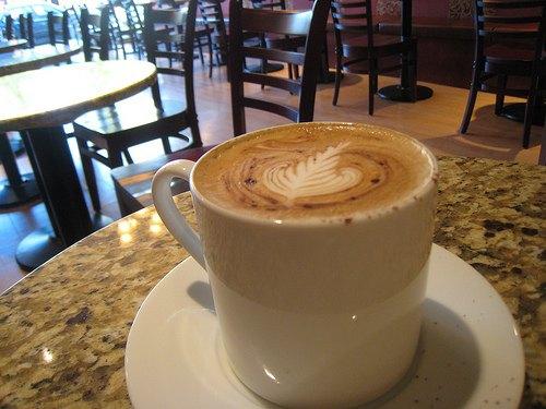 Americano Misto at Caffe Artigiano