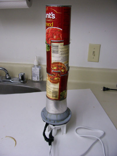 Soup can chimney