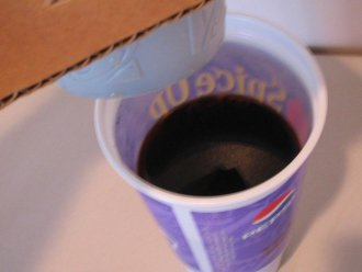 coffee in bottom cup