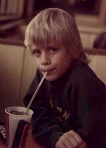 Michael drinking Coke