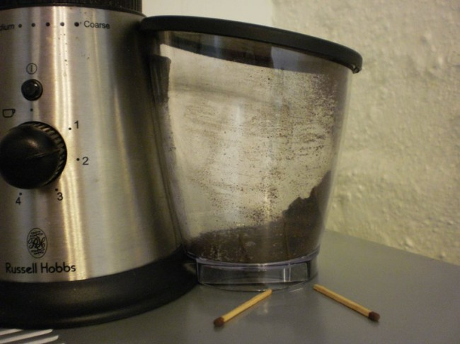 coffee grinder output