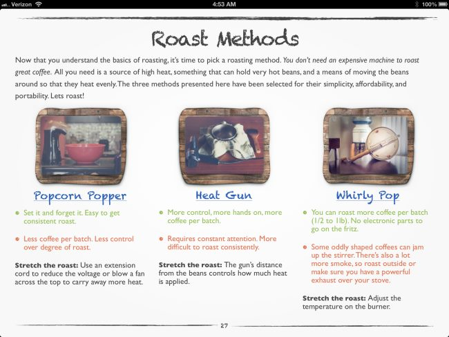 Home Roasting Methods