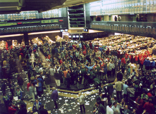 Trading floor at the New York Board of Trade