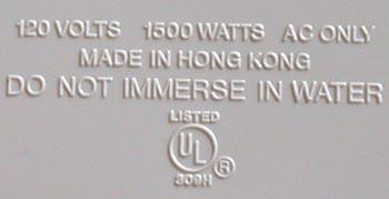 1500 watts