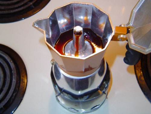 Brewing Moka Coffee