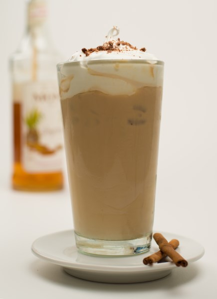 Cinnamon Syrup Iced Coffee