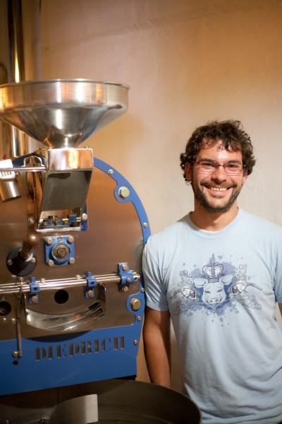 Jesse by coffee roaster