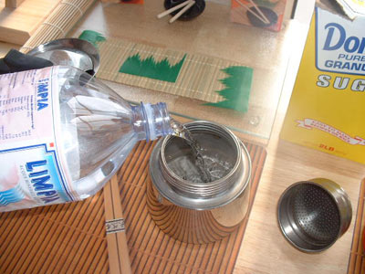 add water to moka pot espresso maker