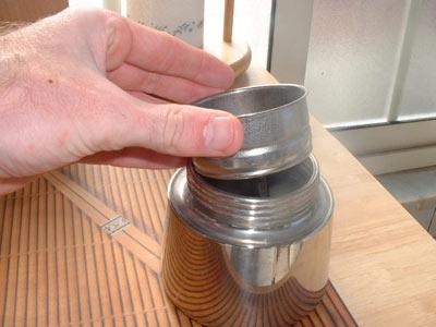 Insert strainer assembly to moka pot espresso maker