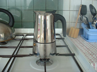 use a Low Flame for moka pot brewing