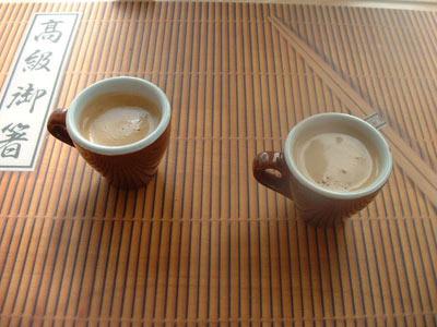 Finished Espresso from moka pot maker