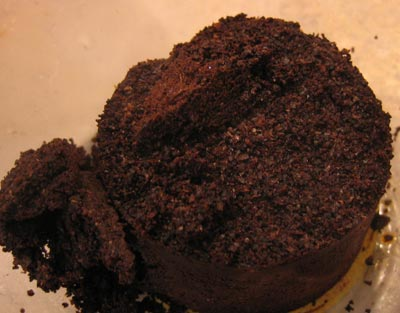 AeroPress used coffee grounds