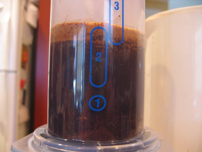 aeropress add hot water