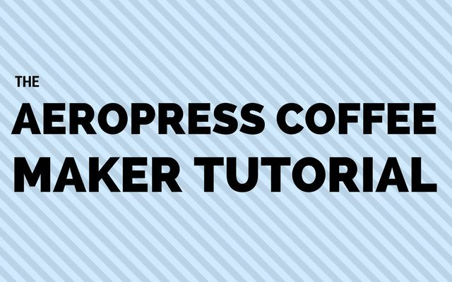 how to make Aeropress coffee - tutorial