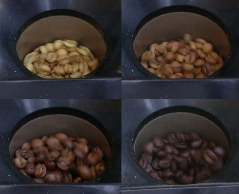 coffee roast color progression