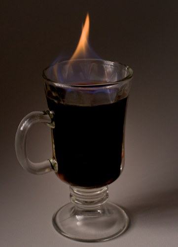 Light Irish Coffee on Fire