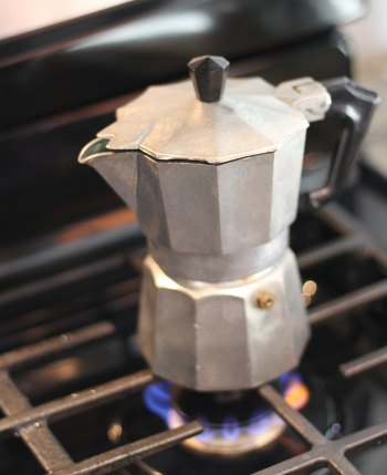 Heat the Stovetop Espresso Maker