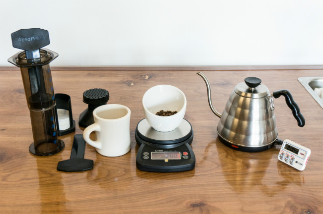 AeroPress Brewing Setup