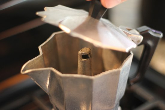 espresso before extraction