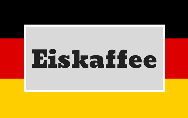 Making German Ice Cream Coffee (Eiskaffee)