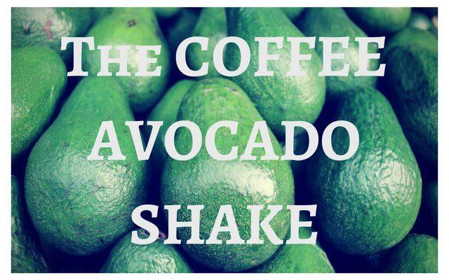 coffee avocado shake recipe