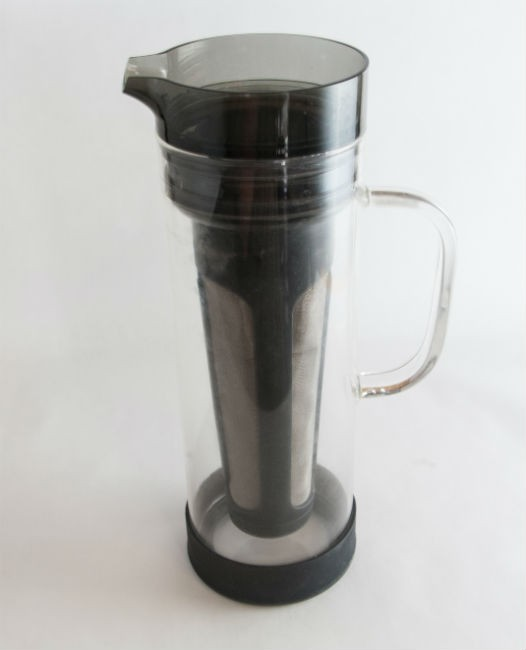 insert filter into primula cold coffee brewer