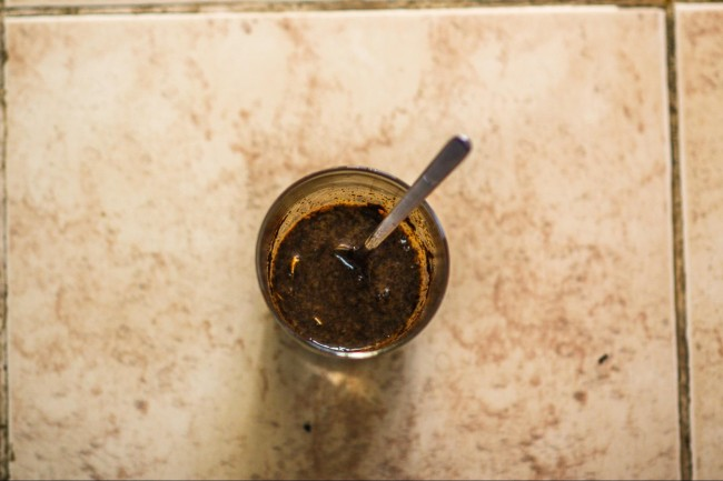 coffee egg slurry