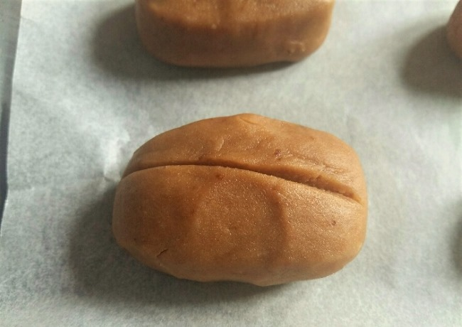 Coffee Bean Cookies Split Dough