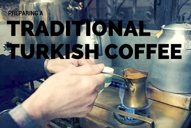 making a traditional turkish coffee