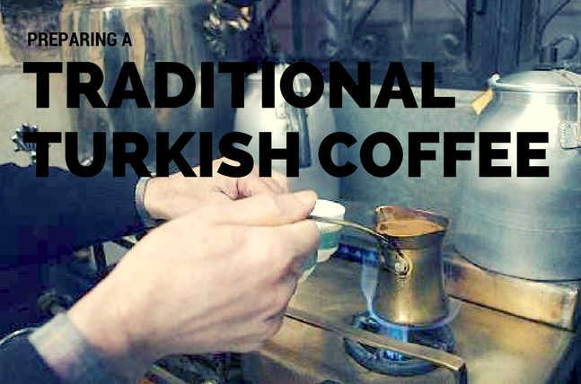 Preparing Traditional Turkish Coffee
