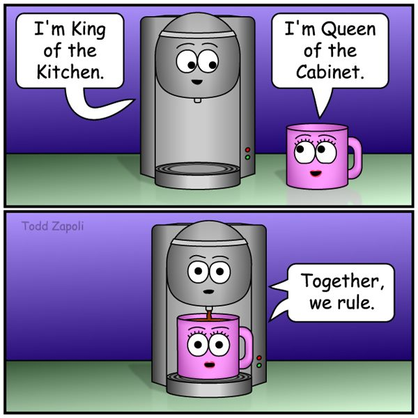 Together we Rule coffee comic