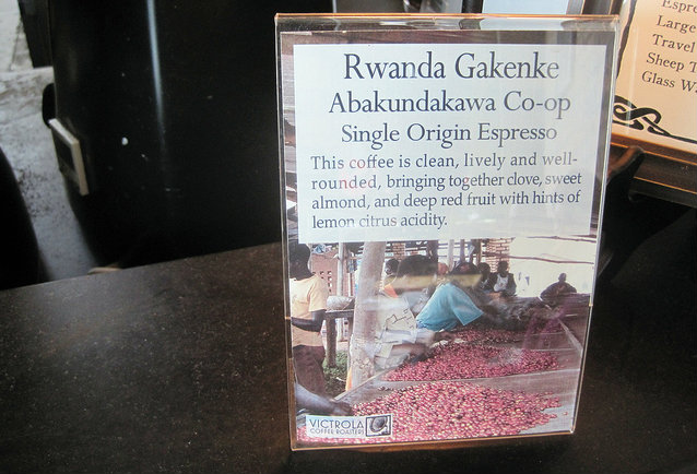 Rwanda Single Origin Espresso by Victrola 2012