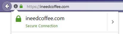 secure coffee website ineedcoffee https ssl