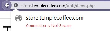 insecure coffee site
