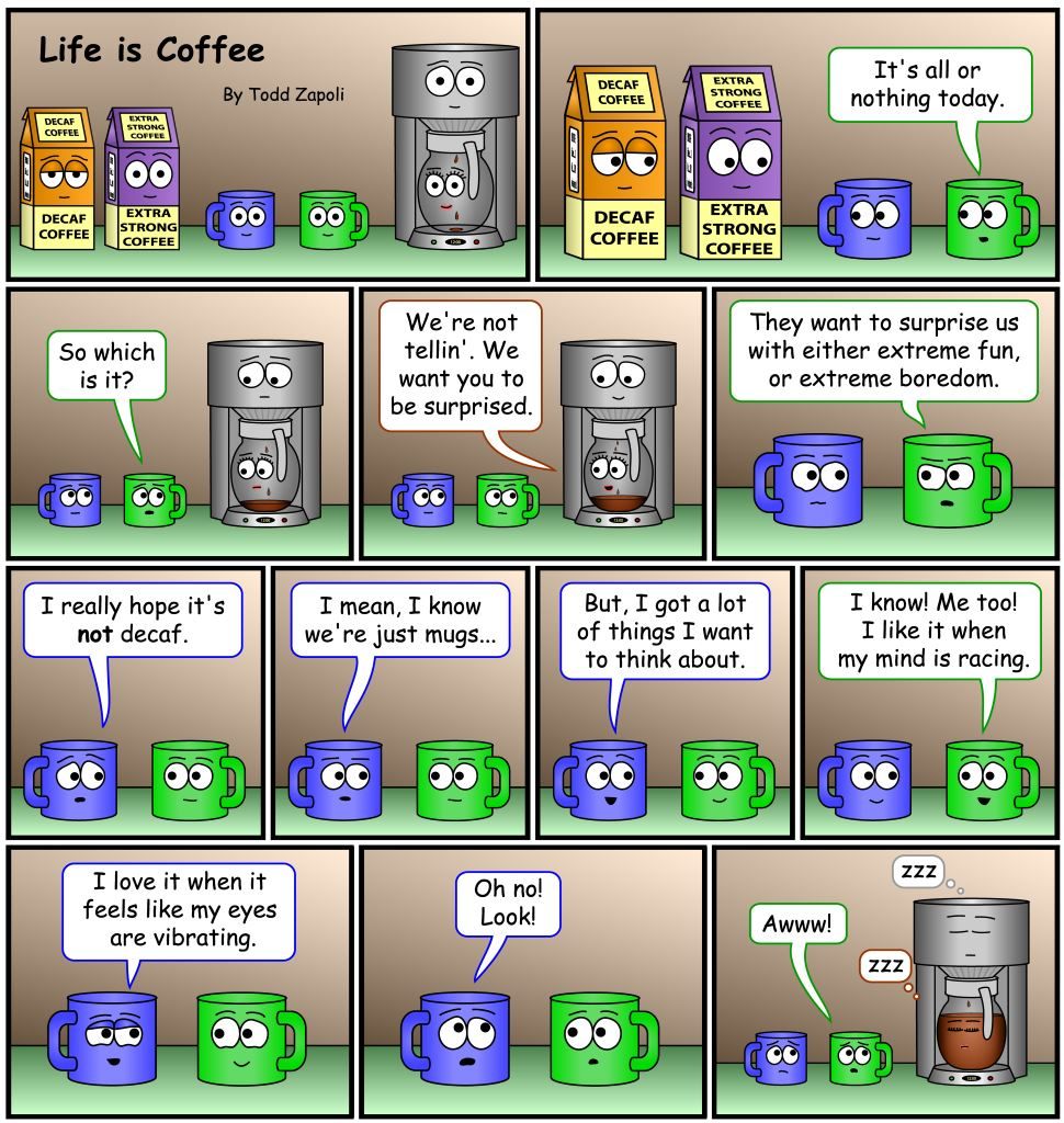 Coffee Comic - Extreme fun or Extreme Boredom