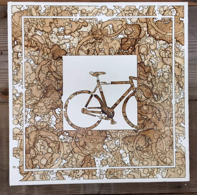 A Fixie - Bike - Coffee on Canvas