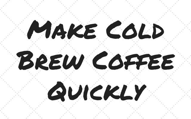 Make Cold Brew Coffee Quickly with the Gourmia Automatic Cold Brewer