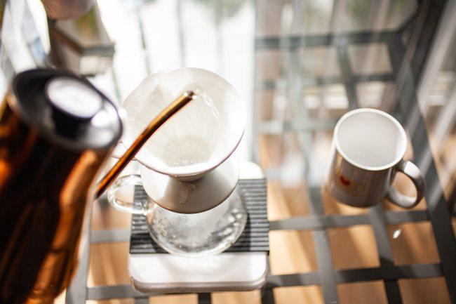 v60 coffee rinse filter
