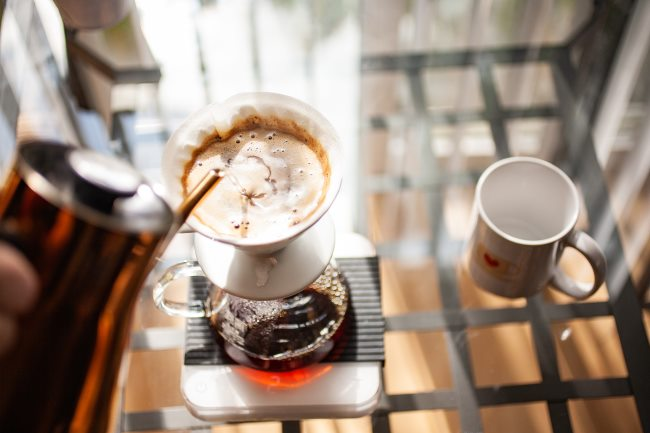 v60 coffee - more pours
