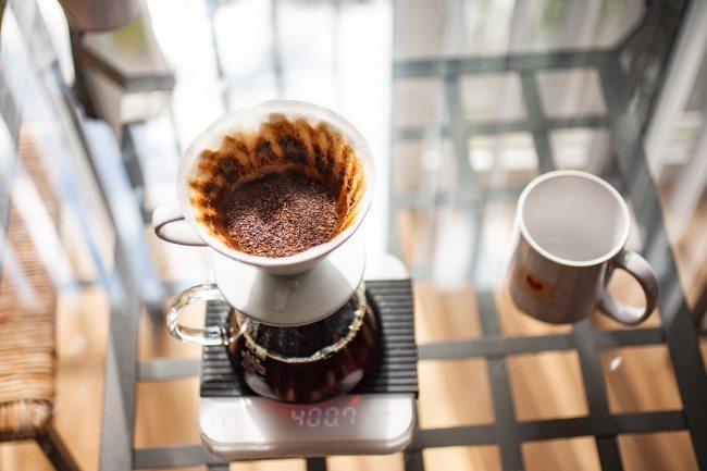 v60 coffee done