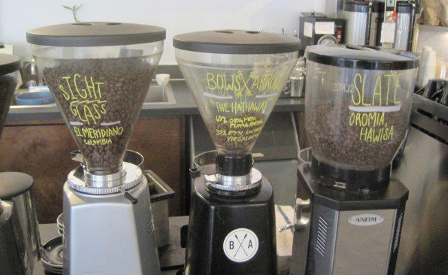 3 espresso hoppers