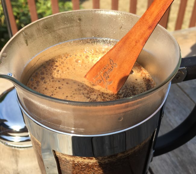 wooden paddle french press